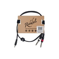 ROCKDALE XC-002-1M готовый компонентный кабель, разъемы stereo mini jack папа x 2 mono jack папа длина 1 мм, черный