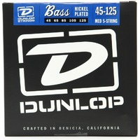 Dunlop DBN45125 Комплект струн для 5-струнной бас-гитары, никелированные