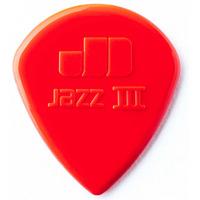 Dunlop 47PXLN Nylon Jazz III XL Медиаторы 6шт, 1,38мм, красные
