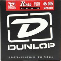Dunlop DBN45105 Комплект струн для бас-гитары, никелированные, Medium Light, 45-105