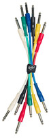 ROCKDALE IC016-15CM комплект из 6 шт патч-кабелей с разъёмами mono jack (TS) male, длина 15 см, 6 цветов
