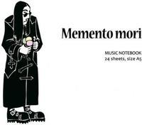 """Нотная тетрадь - тетрадь для записи нот, обложка с рисунком Ozzy """"Memento mori"""" формат А5, 24 листа"""