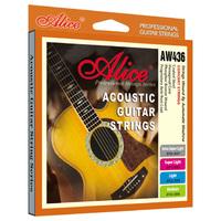 Alice AW436-XL Струны для акустической гитары, шестигранный керн, обмотка из фосфорной бронзы, антикоррозионное покрытие