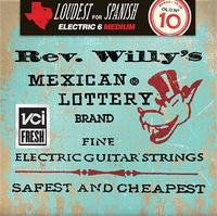 Dunlop RWN1046 Rev. Willy's Lottery Комплект струн для электрогитары, никелированные, Medium, 10-46