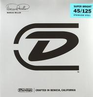 Dunlop DBMMS45125 Marcus Miller Super Bright Комплект струн для 5-стр бас-гитары,нерж.сталь, 45-125