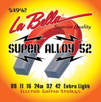 La Bella SA942 Super Alloy 52 Комплект струн для электро-гитары