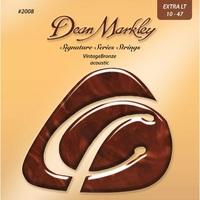 Dean Markley DM2008 Vintage Bronze Комплект струн для акустической гитары, бронза 85/15, 10-47