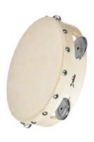 DEKKO TH10-6 Бубен деревянный корпус, диаметр 25 см, кожаная мембрана, 6 пар тарелочек