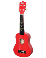 "TUTTI JR-110 RD ( 21"" ) Укулеле сопрано (гавайская гитара) цвет - КРАСНЫЙ"