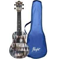FLIGHT TUS 40 ARCANA - укулеле Travel, сопрано, черная с рисунком, пластик