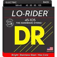 DR MH-45 Lo-Rider Комплект струн для бас-гитары. Круглая обмотка - сталь на шестигранном керне. 45  65  85  105