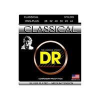 DR RNS-PLUS Комплект струн для классической гитары, посеребренные, среднее натяжение