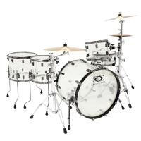 DRUMCRAFT Series 8 Acrylic Clear Black nickel HW