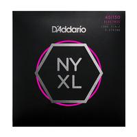 D'ADDARIO NYXL45130SL Набор 5 струн для бас-гитары, Super Long Scale, Regular Light, 045-130
