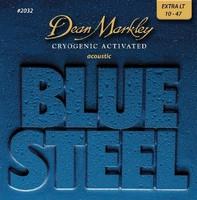 Dean Markley DM2032 Blue Steel Комплект струн для акустической гитары, латунь, 10-47