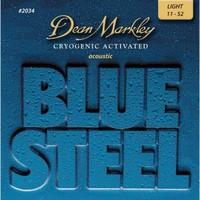 Dean Markley DM2034 Blue Steel Комплект струн для акустической гитары, латунь, 11-52