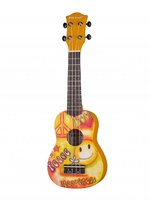 Mirra UK-300-21-XL Укулеле сопрано, с рисунком Peace