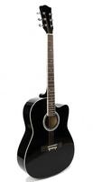 Foix FFG-1039BK Акустическая гитара, черная, с вырезом