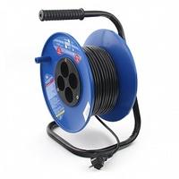Электрическая мануфактура PC-L4-K-30 PowerCube Удлинитель на катушке 6А, 4 розетки, 30м