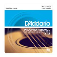 D'ADDARIO EJ16 Набор 6 струн для гитары акустик фосфор-бронза