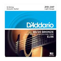 D'Addario EJ36 струны для 12-ти струнной акустической гитары