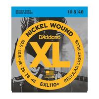 D'Addario EXL110+ Набор 6 струн для электрогитары