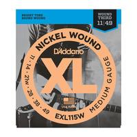D'Addario EXL115W струны для электрогитары