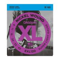 D'Addario EXL120 Набор 6 струн для гитары электро никель 009-042