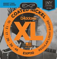 D'ADDARIO EXP110 Набор 6 струн для гитары электро  никелированная сталь с пластмассовым покрытием