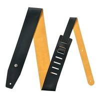 """Dunlop BMF11BN Ремень для гитары, черный/натуральный, кожаный, ширина 3.5"""""""