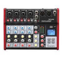 B&G SE6-ME Пульт микшерный, 4 моно, 1 стерео, процессор эффектов, USB, MP3 плеер, BT, 2 полосный эквалайзер, фантомное питание