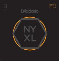 D'Addario NYXL1046-3P NYXL 3 Комплекта струн для электрогитары, Regular Light, 10-46