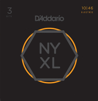 D'Addario NYXL1046-3P NYXL 3 Комплекта струн для электрогитары, Regular Light, 10-46