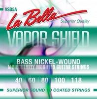 La Bella VSB5A Vapor Shield Комплект струн для 5-струнной бас-гитары, никелированные, 40-118