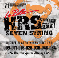 La Bella Hard Rockin' Steel 7 String HRS-71 (9-64) - струны для электрогитары, 7 струн