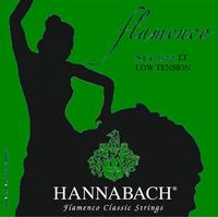 Hannabach 827LT Green FLAMENCO Комплект струн для классической гитары желтый нейлон/посеребренные