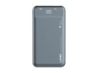 LDNIO PQ1015/ 10000 mAh/  LED дисплей/ PD + QC 3.0/  Type-C/ Выход: 3A, max 18W/ Gray Аккумулятор