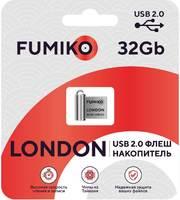 FUMIKO LONDON 32GB Silver USB 2.0 Флешка