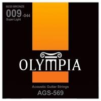 Olympia AGS569 струны для ак. гитары Bronze (9-12-22-28-35-44)