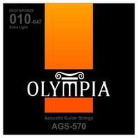 Olympia AGS570 струны для ак. гитары 10-14-23w-30-39-47 Бронза