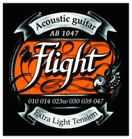 FLIGHT AB1047 струны для акустической гитары, 10-47, натяжение Extra Light, обмотка фосфорная бронза