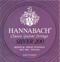 HANNABACH 900MHT Medium/High Tension Silver 200 Струны для классической гитары