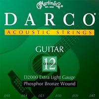 Martin Darco D2000 Струны для 12-стр. акустической гитары