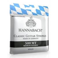 Hannabach 500MT Комплект струн для классической гитары, посеребренная медь, среднее натяжение