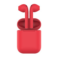 HIPER TWS AIR Soft Bluetooth 5.0 гарнитура Li-Pol 2x50mAh+300mAh, Красный