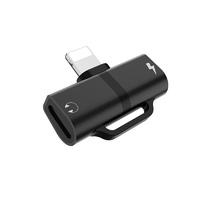 Hoco LS20 (Black) Адаптер audio для Apple 8-pin