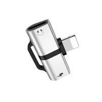 Hoco LS20 (Silver) Адаптер audio для Apple 8-pin