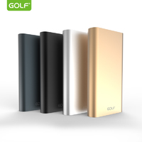 GOLF EDGE10/ POWERBANK 10000 MAH + MICRO USB, LIGHTING /OUT USB 1 А, 2.1A/GOLD АККУМУЛЯТОР