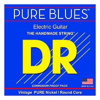 DR PHR-10 Pure Blues Комплект струн для электрогитары, никель, Medium, 10-46