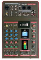Phonic CELEUS Tube Микшерный пульт 5-ти канальный, USB плеер/рекордер, USB аудиоинтерфейс, BT